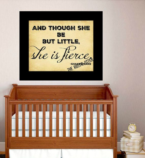 Shakespeare Quote  She Be Fierce Quote  Quote by TheRusticOtter