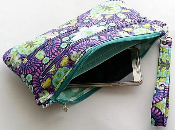 The Dana Bag and Wristlet PDF Sewing Pattern pouch cosmetic