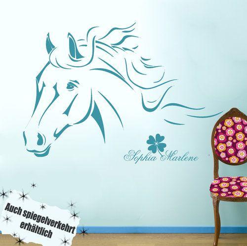 Wandtattoo Pferd M343 Größe M by deinewandkunst, Unsere Wandtattoos sind 100% Raufasertauglich und sind auch für die Verwendung auf Putz bestens geeignet. ...