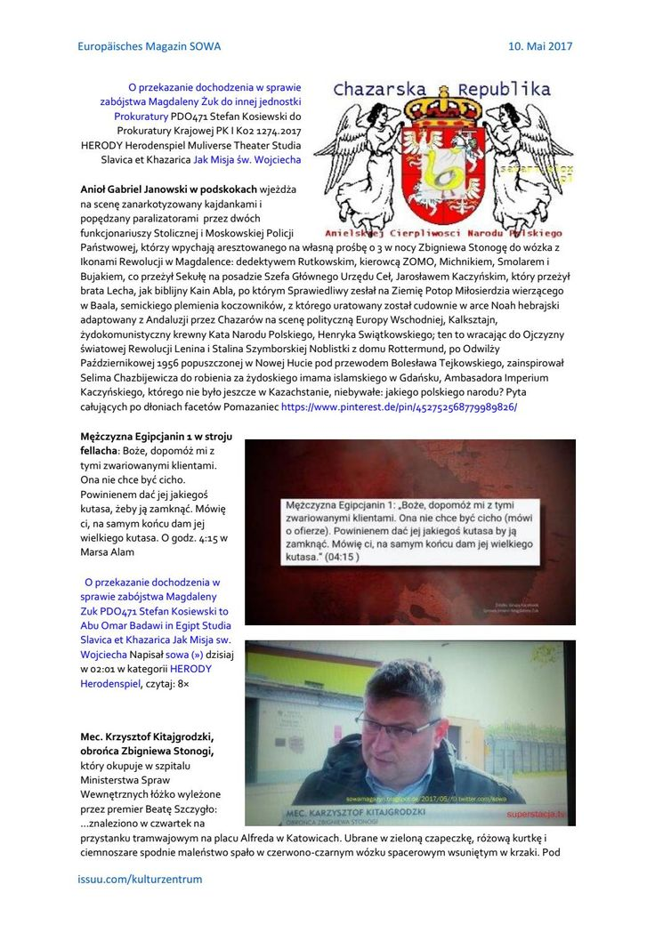 O przekazanie dochodzenia w sprawie zabojstwa magdaleny zuk pdo471 herody herodenspiel von stefan ko http://sowa-magazyn.blogspot.de/2017/05/o-przekazanie-dochodzenia-w-sprawie.html