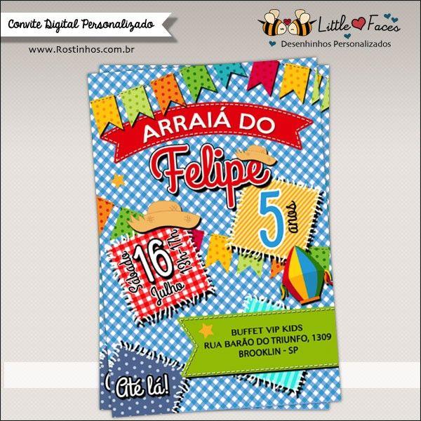 Convite Festa Junina para Imprimir