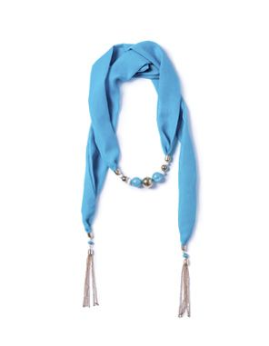 aqua necklace scarf