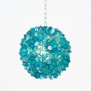 Teen bedroom lighting  Turquoise Flower Hanging Pendent