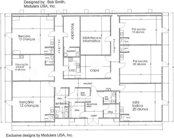 Classroom Layouts For Small Rooms ~ Planta baixa creches ed infantil pinterest
