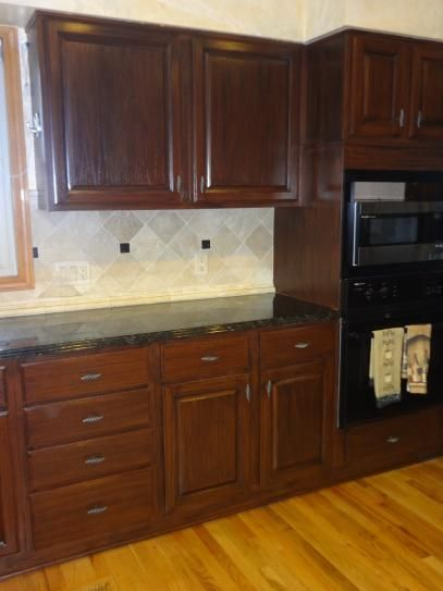 Dark Kitchen Cabinets Wood