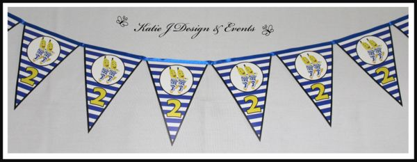Pennant Banner #Bananas #In #Pyjamas #Baby #Cute #Shower #Unisex #Shower #Birthday #Bunting #Party #Decorations #Ideas #Banners #Cupcakes #WallDisplay #PopTop #JuiceLabels #PartyBags #Invites #KatieJDesignAndEvents #Personalised #Creative