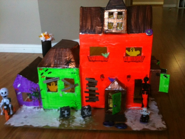 23 best around the house theme images on pinterest for How to make a cardboard haunted house