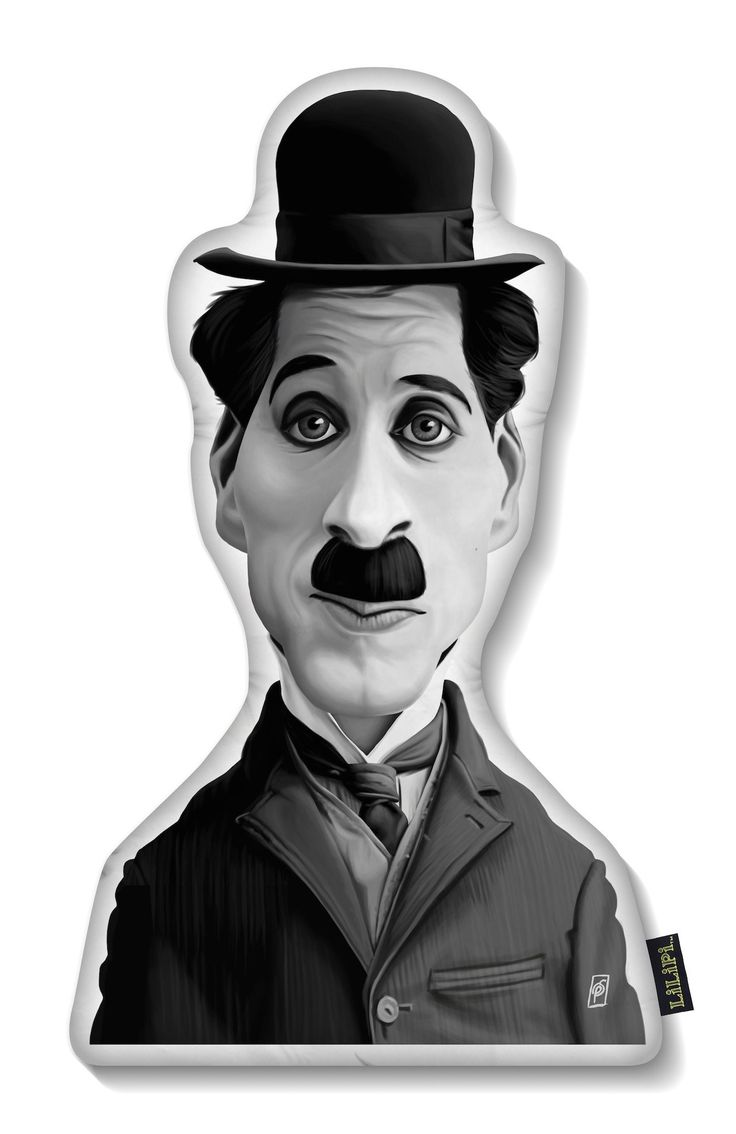 Charlie Chaplin art | decor | wall art | inspiration | caricature | home decor | idea | humor | gifts