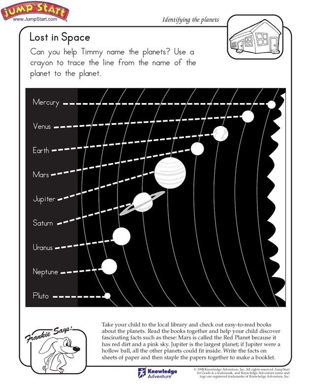 lost in space 1st grade kids 39 science worksheet on planets jumpstart space the moon. Black Bedroom Furniture Sets. Home Design Ideas