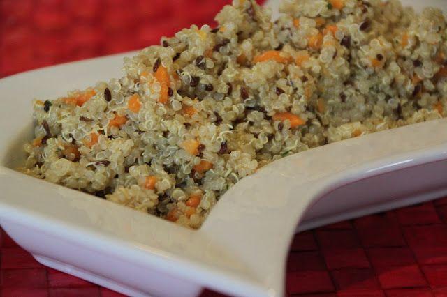 MAMMA MIA QUANTE RICETTE: Quinoa Reale con semi di lino, carote e misticanza...