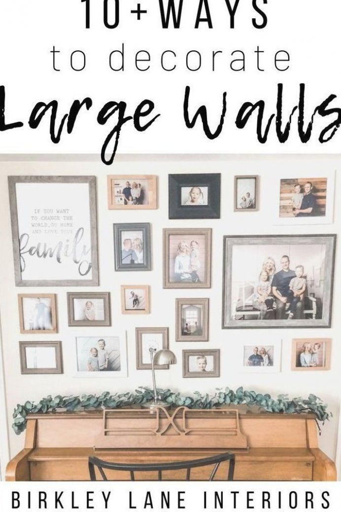 Do You Have A Big Blank Wall You Don T Know How To Decorate Check Out 12 Affordable Large Wall Decor Ideas That Are In 2020 Large Wall Decor Decor Big Blank Wall