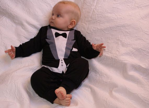 tuxedo onesie PERSONALIZED quality Baby gift with von Schnuffelinis, €19.95