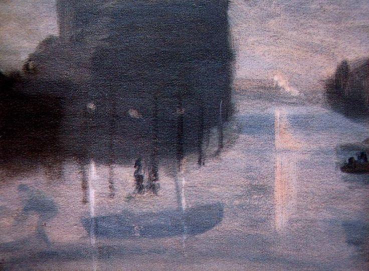 Port Melbourne at Night  Clarice Beckett