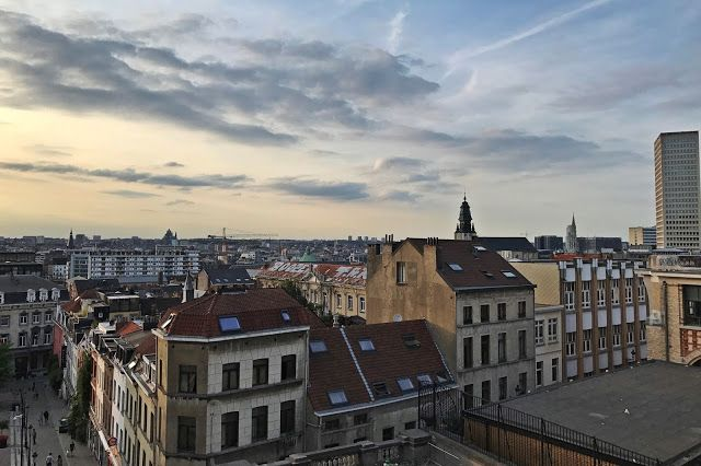 Spectacular view of Brussels from the Palace of Justice.