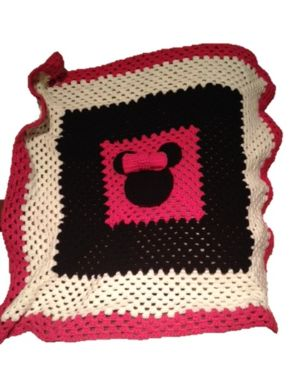 Crochet Minnie Mouse Blanket