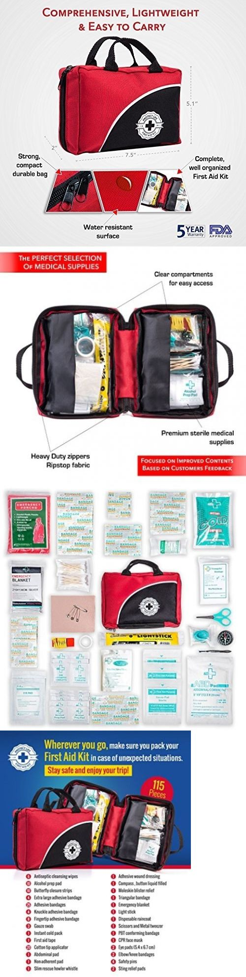 Kits and Bags: 115 Piece Trauma Bag First Aid Kit Emergency Supplies Stocked Emt Ems Paramedic -> BUY IT NOW ONLY: $31.27 on eBay!
