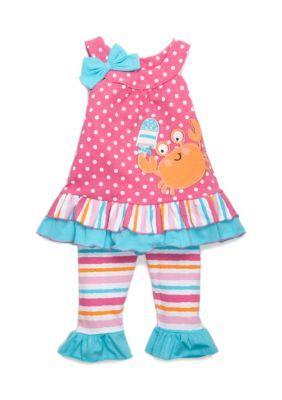 Nanette Nanette Lepore™ Girls' Polka Dot Crab Tunic And Leggings Set Toddler Girls -  - No Size