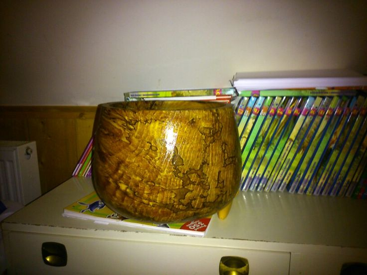 Jawor woodturning bowl