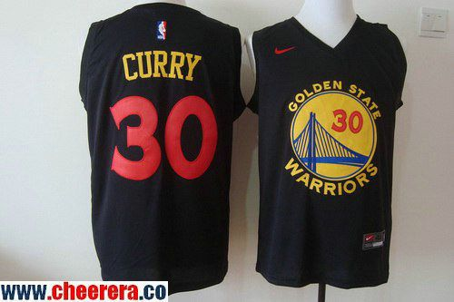 Men's Golden State Warriors #30 Stephen Curry 2016 Black Fashion Stitched Nike Basketball Jersey