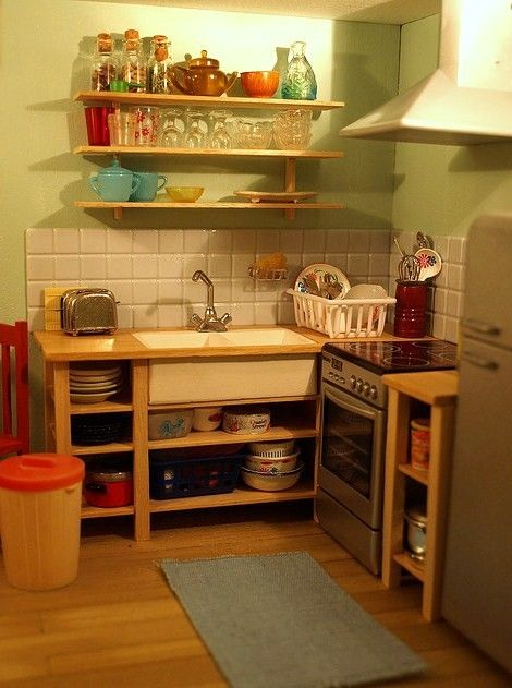 mini kitchen-maybe for a downstairs or camp ground