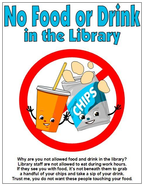 No Food or Drink in the Library by Enokson, via Flickr