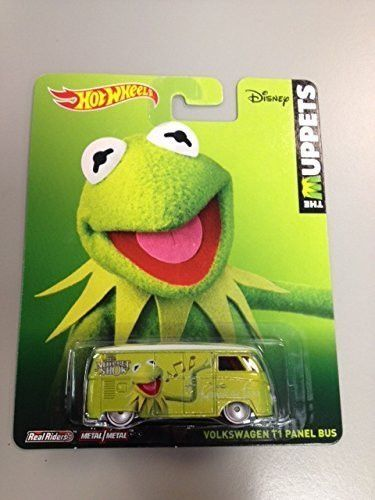 Hot wheels The Muppets Kermit the frog volkswagen T1 panel bus Disney real riders