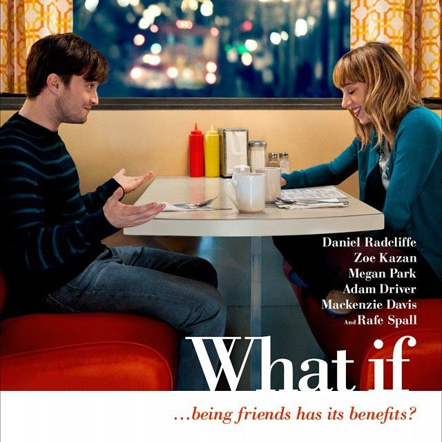 """""""What If"""" (2014) Movie Review: Wallace (Daniel Radcliffe) is med school dropout just getting over a year-long funk after his now ex-girlfriend cheated on him. Ready to finally socialize a little, Wallace heads to his friend Allan's (Adam Driver) house for a party. [[MORE]] It is at this party he meets a girl name Chantry (Zoe Kazan), to whom he instantly connects. In fact, she seems to be the perfect…until Wallace finds out she already has a successful long-term live-in boyfriend named Ben…"""
