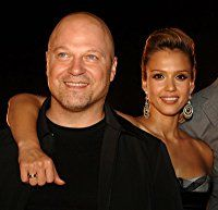 Jessica Alba and Michael Chiklis at an event for Fantastic Four (2005)