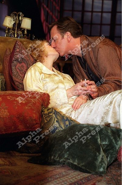 """Alan Rickman and Lindsay Duncan in the Broadway play, """"Private Lives""""   2001-2002"""