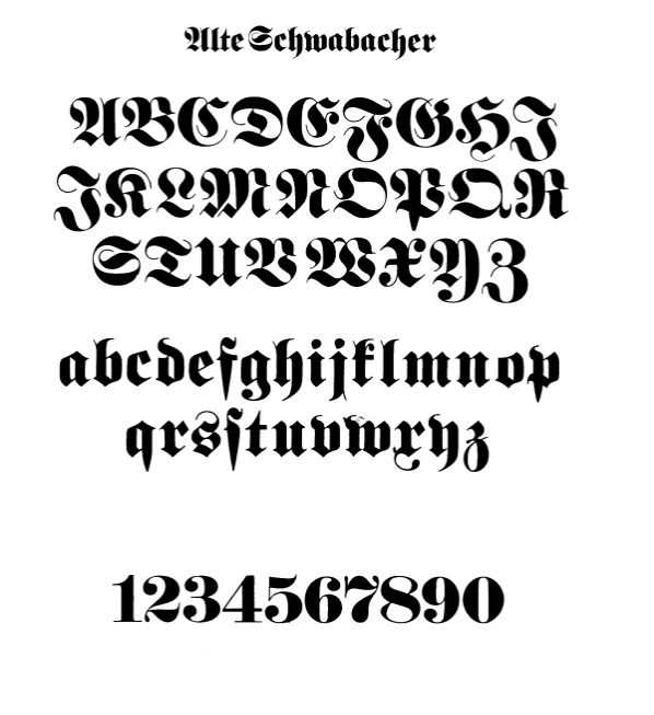 Typographybooks Gothic And Old English Alphabets 100