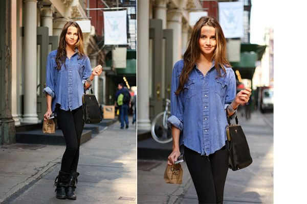 Best 25 Denim Shirt Outfits Ideas On Pinterest Chambray Outfit Black Denim Shirt And