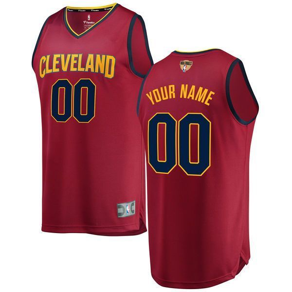8bbbef4385a  99.99 Men s Cleveland Cavaliers Fanatics Branded Maroon 2018 NBA Finals  Bound Fast Break Custom Replica Jersey