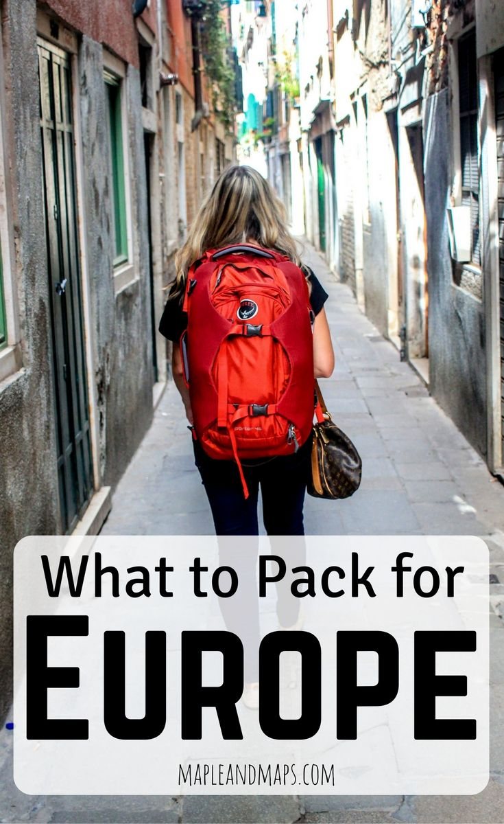 A minimalist's guide to packing for Europe in September.