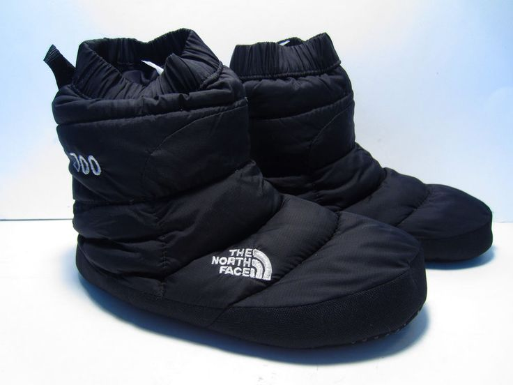 Women's The North Face 700 Goose Down Slippers Size XS Black #TheNorthFace #Booties