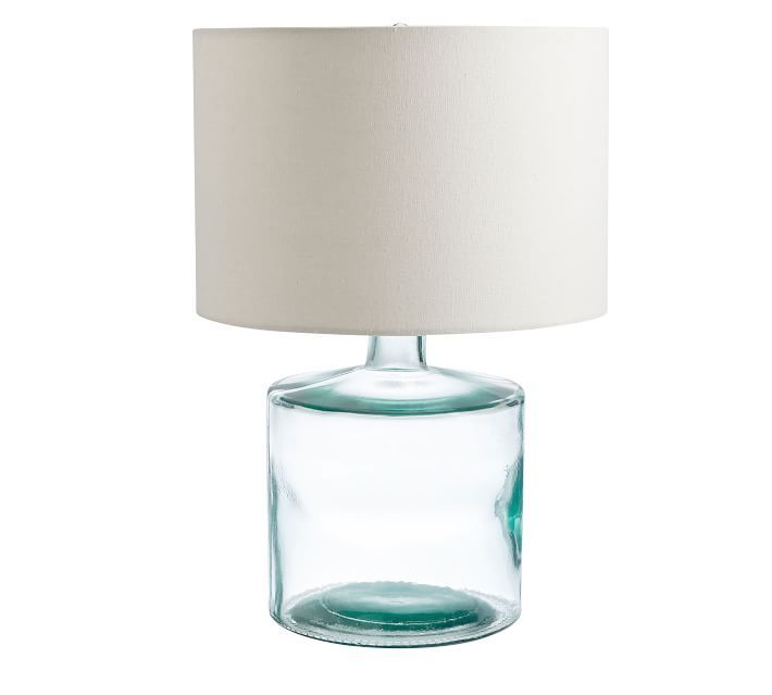 Mallorca Recycled Glass Table Lamp In 2021 Glass Table Lamp Lamp Table Lamp