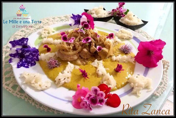 Condividi la ricetta...FILETTO DI MAIALE SPEZIATO RICETTA DI: RITA ZANCA Ingredienti: 1 filetto maiale di circa 700 g 200 g di yogurt magro curry paprika peperoncino aglio cipolla sale pepe Per il riso 180 g…