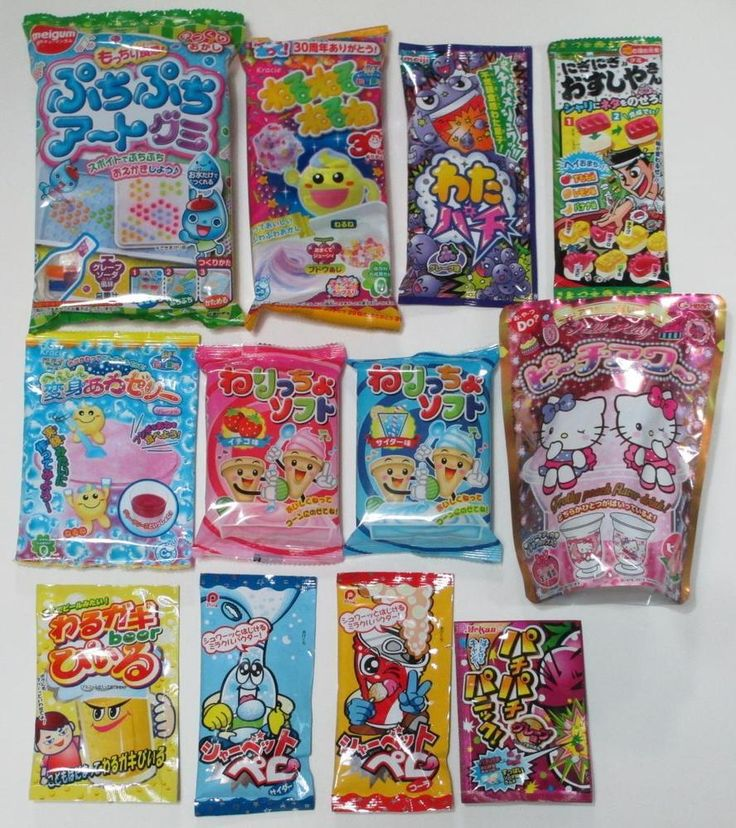 Cute Japanese Candy DIY Kits 12pcs Popin Cookin Kracie Meiji Hello Kitty Drink #KracieMeijiHeartPine