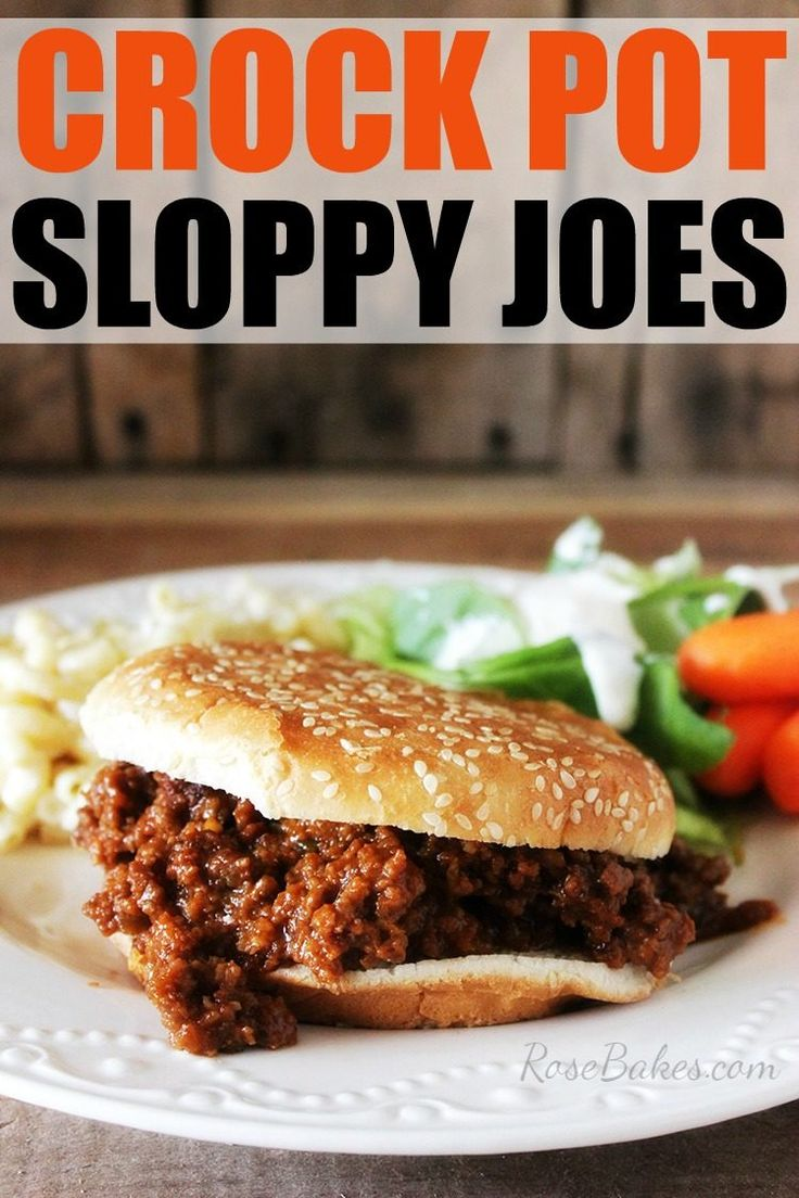 Crock pot, Pots and Homemade sloppy joes on Pinterest