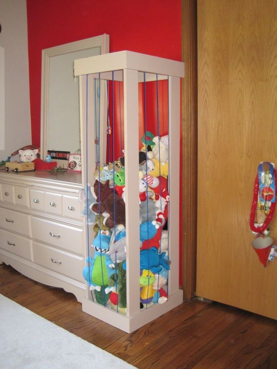 Stuffed animal storage - love the concept, maybe someday