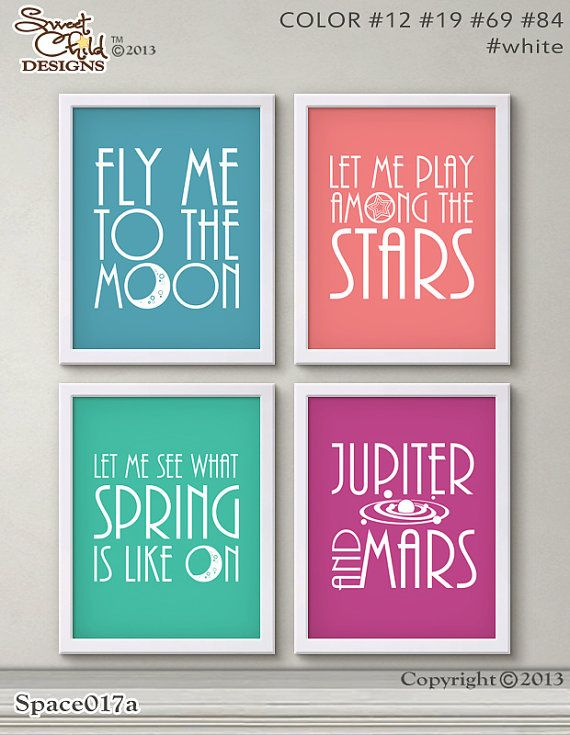 Outer Space Nursery Decor Baby Spaceship by SweetChildDesignsFL