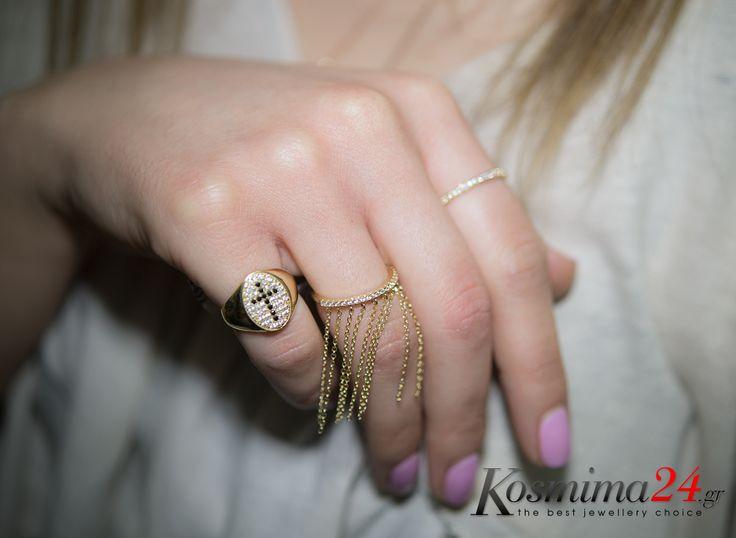 Χρυσά δαχτυλίδια 14 καρατίων που θα εντυπωσιάσουν!!