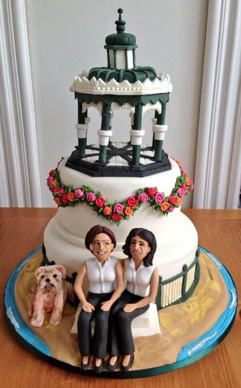Heather Peace S Wedding Cake Including Bungles The Dog