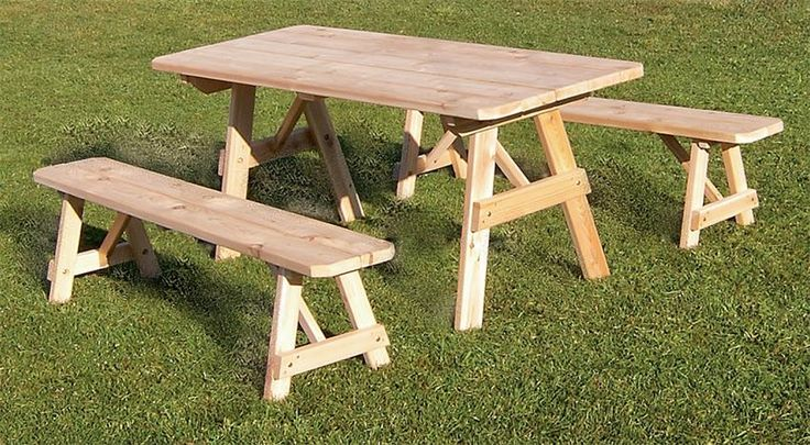 Amish Cedar Wood Traditional Outdoor Dining Set Amish made outdoor furniture is built to last for years.
