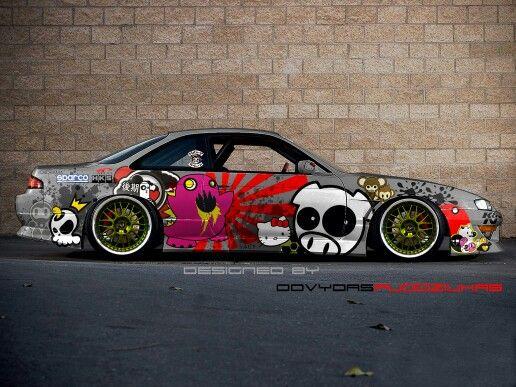 Graffiti Nissan Silvia S14