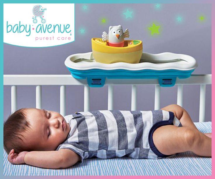 Χαλάρωση πρίν τον υπνό.  Το musical boat cot toy είναι ένα βραβευμένο πολύχρωμο μουσικό παιχνίδι που προσαρμόζεται στις κούνιες με ήχους και φώτα για τα 3 αναπτυξιακά στάδια του μωρού.