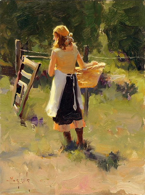 Oil painting by Kim English. Workshop: Capturing the Moment in Oil - August 2 - 8, 2015