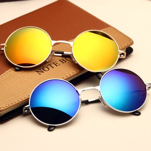Gafas de sol redondas gafas de sol de espejo príncipe hombre
