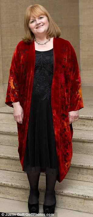 Lesley Nicol was a world away from Mrs Patmore's kitchen overalls in a black velvet dress