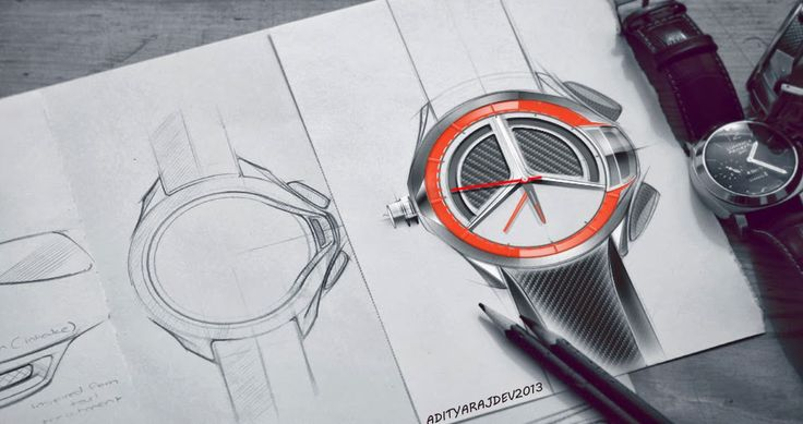 how to sketch a watch