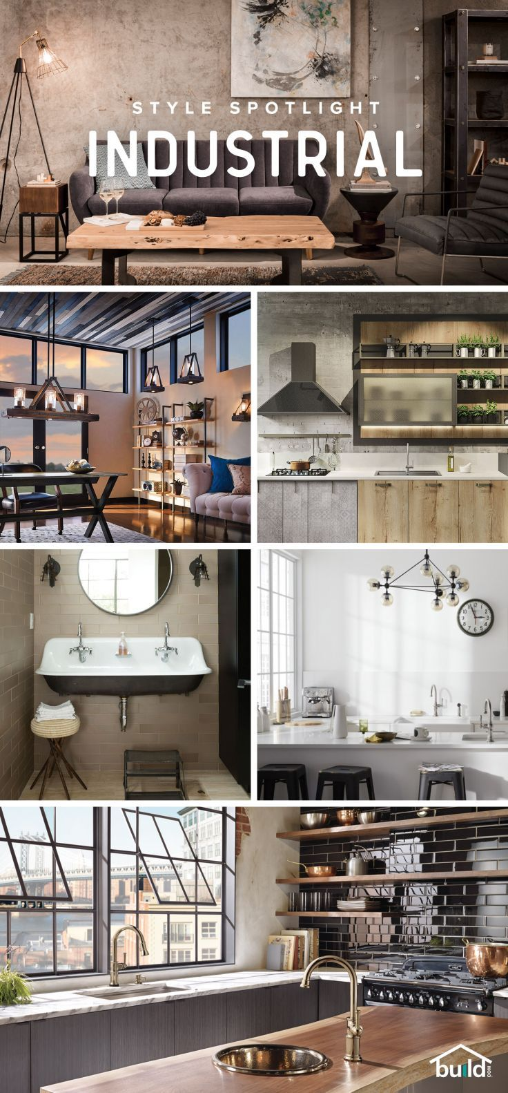 Love Industrial design? Find the best selection for your project - from floor to ceiling at Build.com